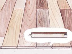 チーク 幅広 単板もの フローリング 形状