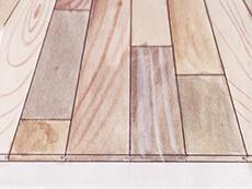 チーク 幅広 乱尺 形状