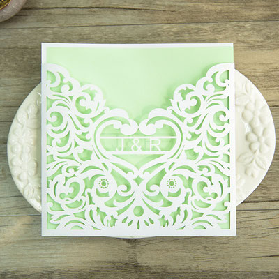 Personalisierbare Lasercut Hochzeitskarte #PB0143