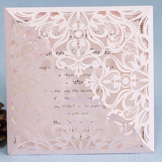 Lasercut Karte #B0019 Blush Shimmer