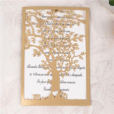 """""""Hochzeitsbaum"""" Lasercut Hochzeitskarte #B0150"""