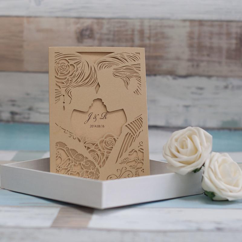 "Lasercut Karte ""Marry Me"", Metallic Gold #A0053"