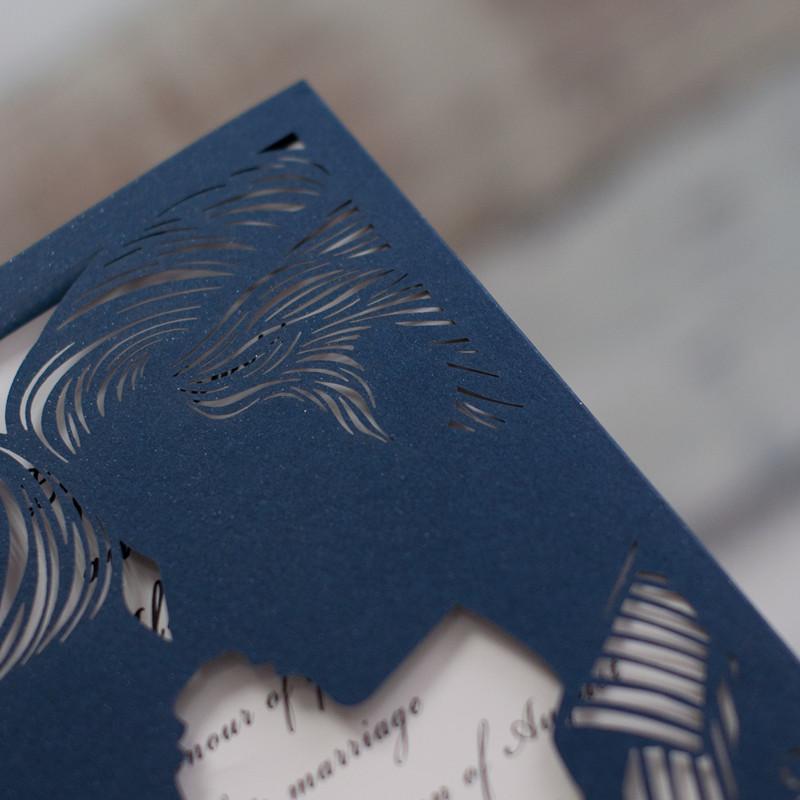 """Lasercut Karte """"Marry Me"""", Glittering Navy #A0053"""