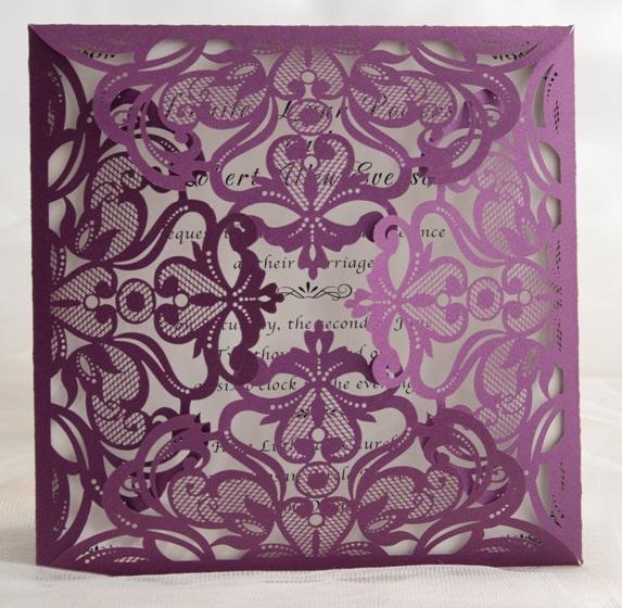 Lasercut Karte #B0019 Purple Shimmer