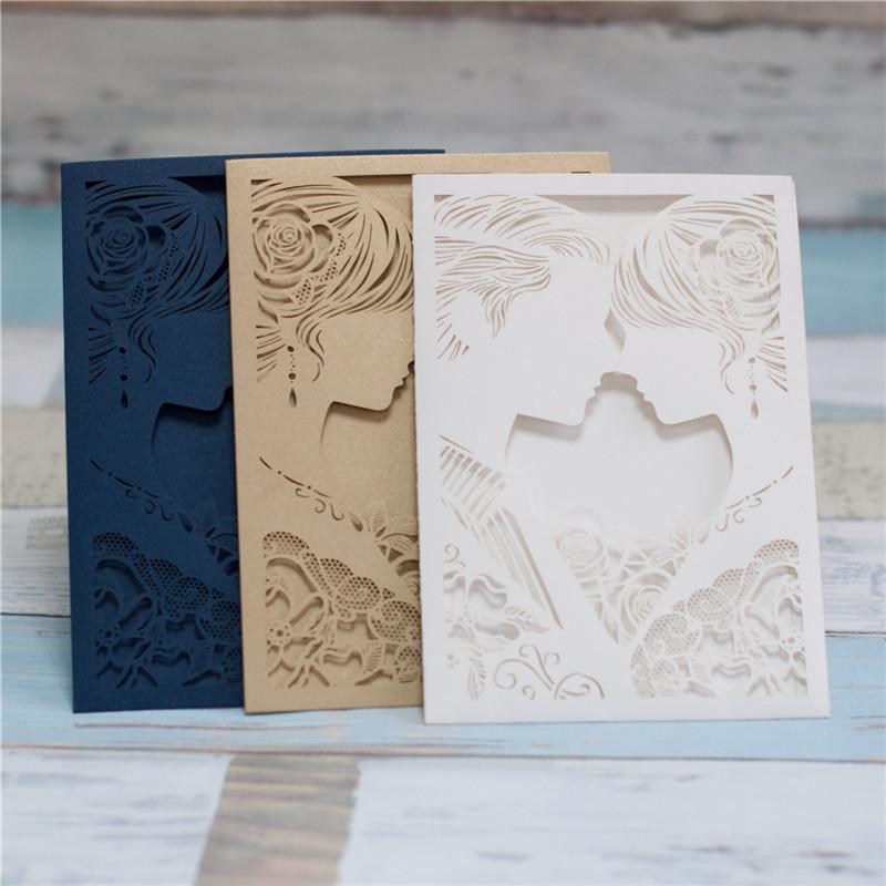 "Lasercut Karte ""Marry Me"", Glittering Navy, Metallic Gold und Glittering Ivory"