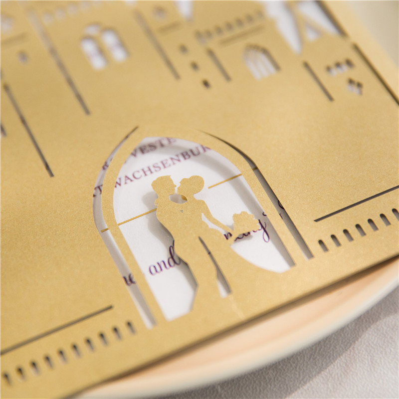 Lasercut Kartenhülle #B0168 in Metallic Gold