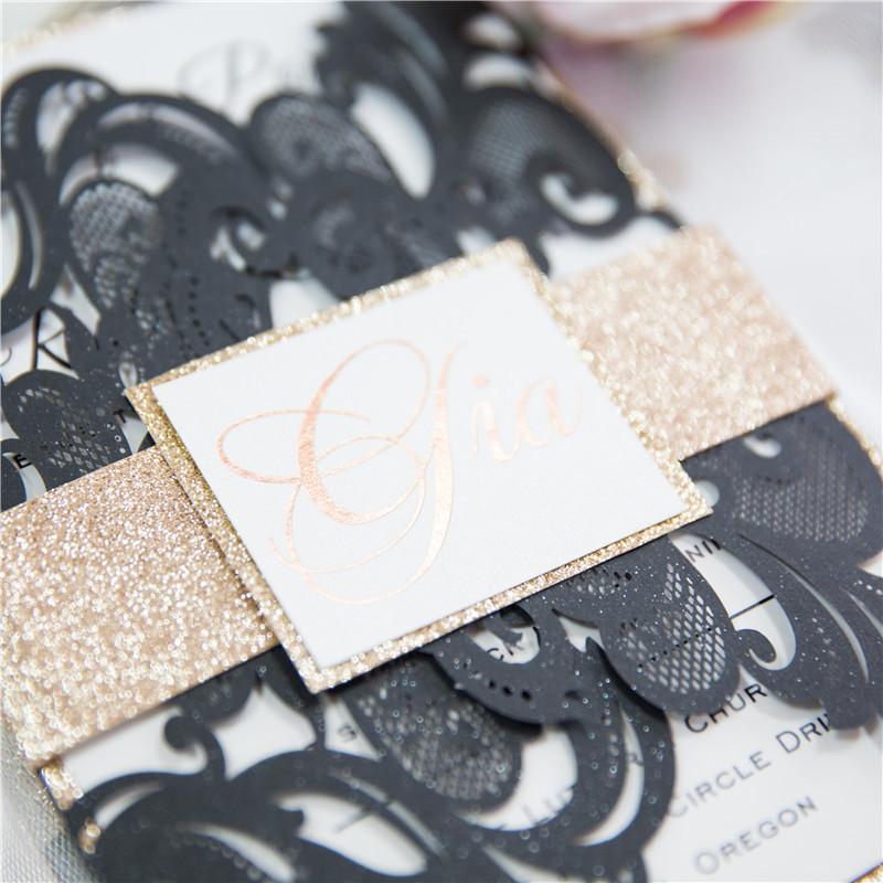 Lasercut Kartenhülle #D0175 mit Banderole #B2