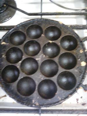 たこ焼き たこ焼き器 鉄製 使用前