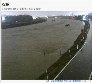大和川氾濫警戒