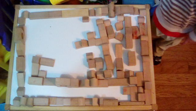 積み木で作る迷路