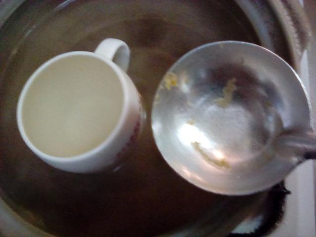漂白後 コーヒーカップ 茶渋とれる 茶渋がとれない