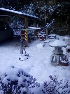 奈良市の積雪