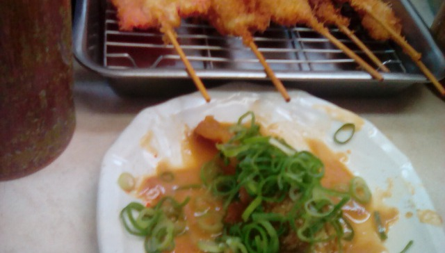 七福神のドテ焼きと串カツ