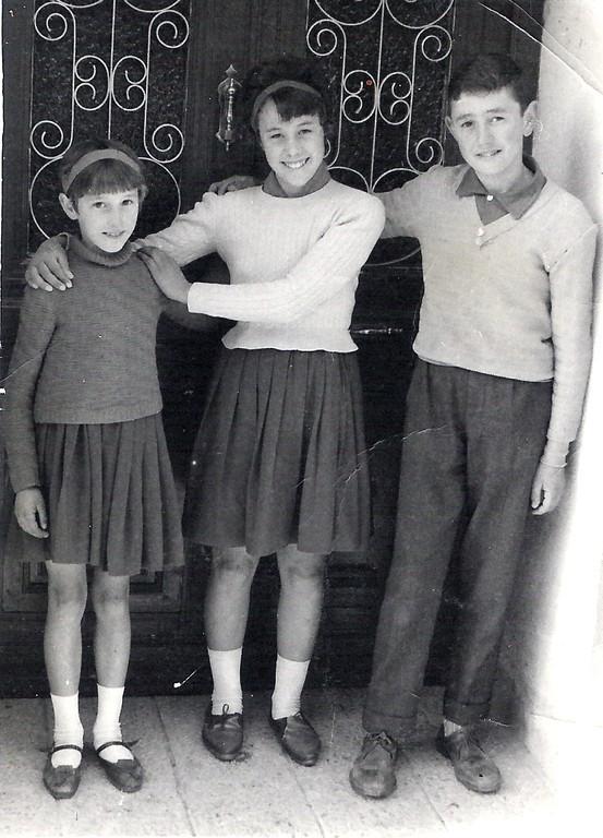 Mª Teresa, Mª Isabel e Isidoro de Frutos