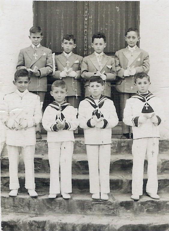 (izq. a drch. y de arriba a abajo) Daniel González, Enrique, Salvador Fuentetaja, Pedro Hontoria, Teodoro, Pepe Herranz, Fernando, Felix.