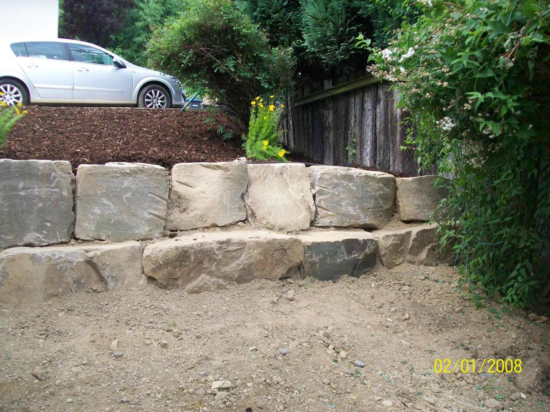 natursteinmauern - natürlich schön - müller tiefbau - ihr partner
