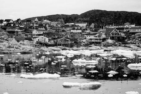 Hafeneinfahrt von Ilullisat in Grönland