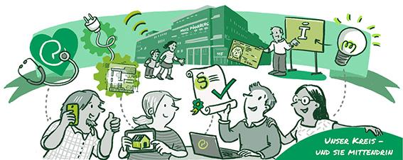 Business Illustration einer Stellenauschreibung