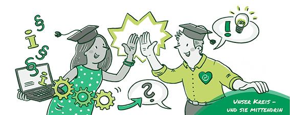 Business Illustration einer Stellenausschreibung