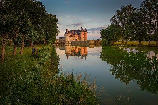 Randonnée près du château de Sully sur Loire