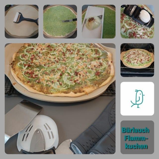 Bärlauch Flammkuchen vom Pizzastein