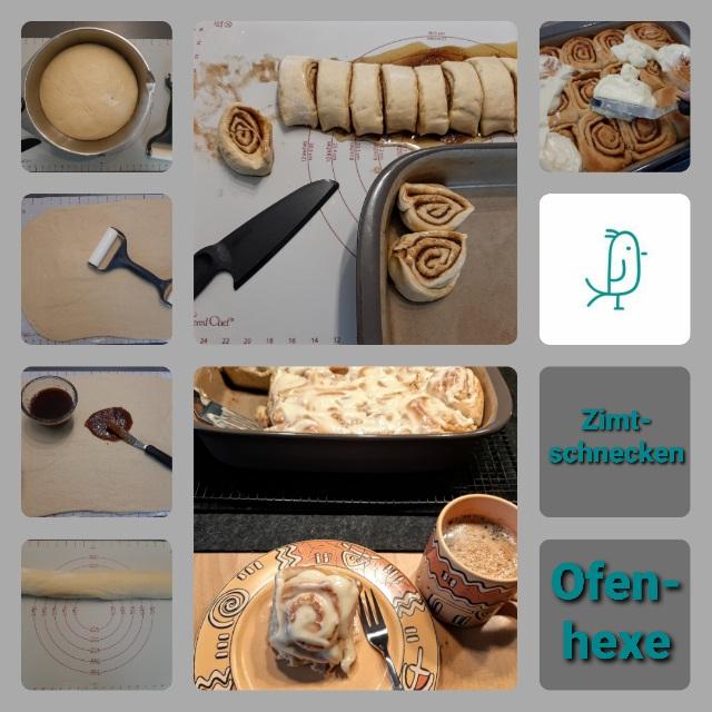 Amerikanische Zimtschnecken mit Frischkäsetopping aus der Ofenhexe von Pampered Chef®
