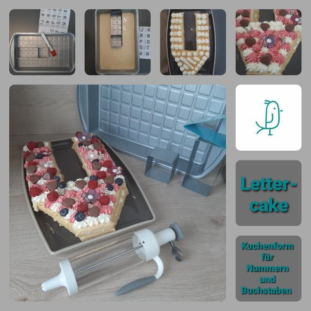 Lettercake oder Numbercake aus der Kuchenform für Nummern und Buchstaben von Pampered Chef®