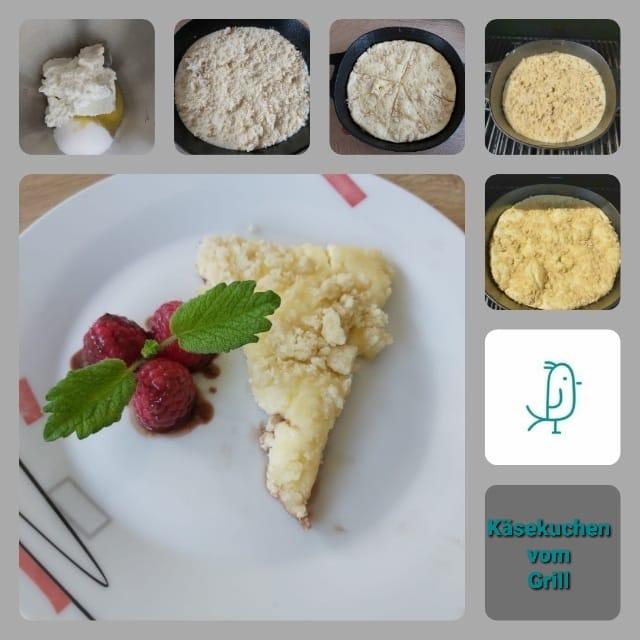 Käsekuchen vom Grill aus der gusseisernen Pfanne von Pampered Chef®