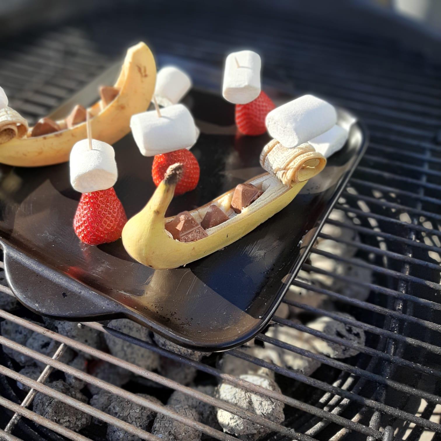 gefüllte Banane und Marsmallow-Erdbeeren vom kleinen Rockcrok®