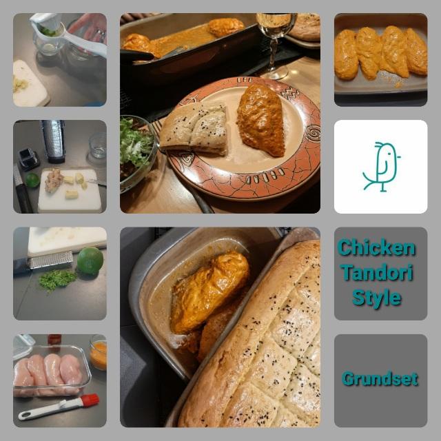 Chicken Tandori Style mit Fladenbrot aus dem Grundset von Pampered Chef®