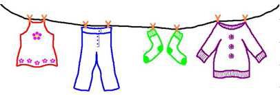 Kinderkleidung auf wäscheleine  basarteam-brochenzell - Rund ums Kind - Basarteam Brochenzell