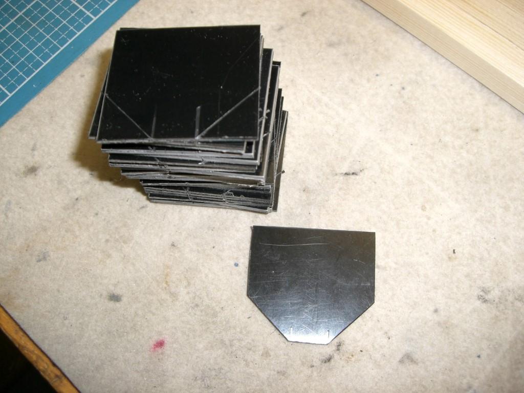 Bau der oberen Halterungen - 2 mm PVC....