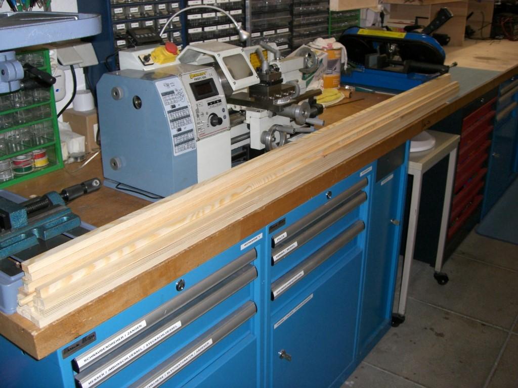 Start mit einer Vielzahl an unterschiedlichen Holzheisten