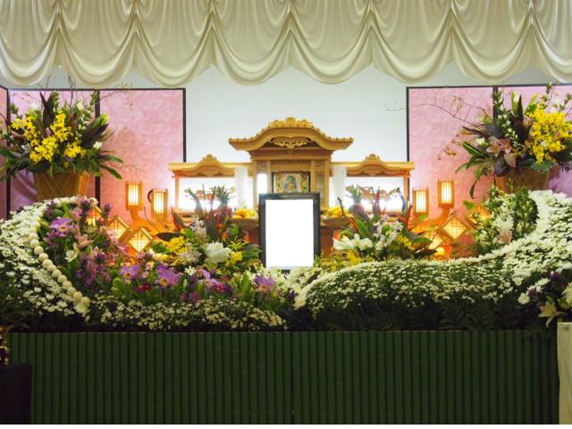 高知斎場での葬儀写真