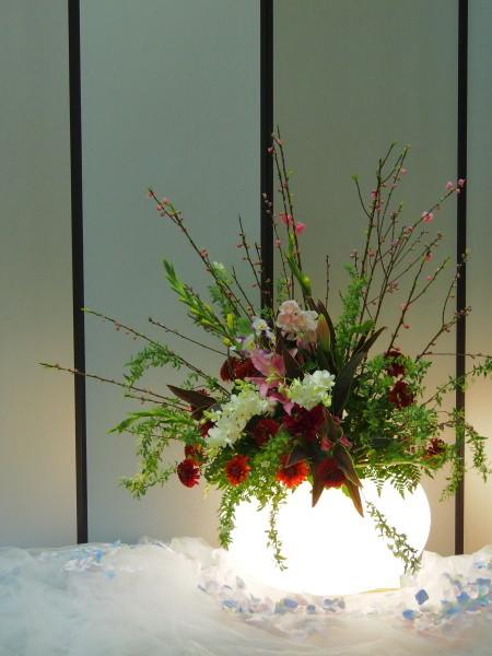 入口花飾り