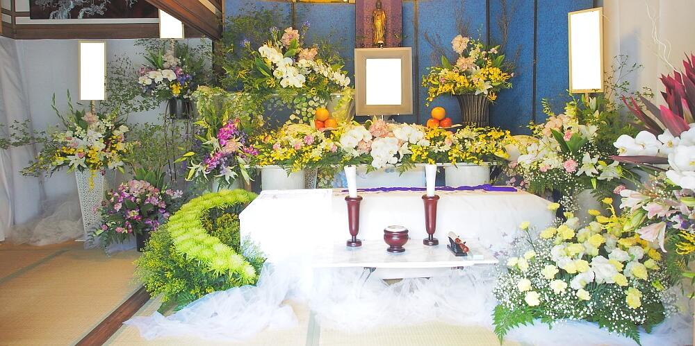 自宅葬飾り 正面2