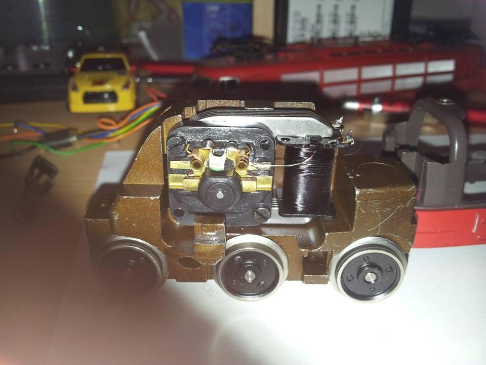 Fahrgestell mit dem Original Motor und Feldspule