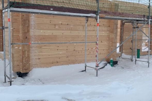 Bauen im Winter - Es hat viel geschneit ...