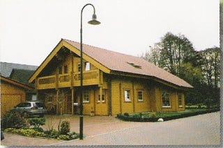 Traumhaus aus Holz - Holzhaus in Blockbauweise - Architektenhaus - Blockhaus - Wohnblockhaus bauen - Rheinland Pfalz - Mainz