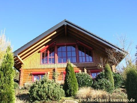 Winterfestes Ferienhaus und Zweitwohnsitz in massiver Blockbauweise - Hessen - Holzhaus - Blockhaus - Wohnblockhaus - Schleswig Holstein