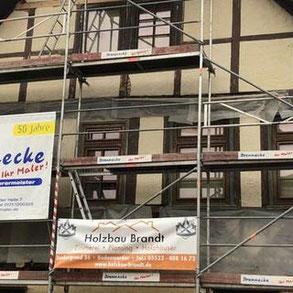 Renovierung eines Fachwerkhauses in Bodenwerder - Holzbau Wolfgang Brandt in Niedersachsen - Sanierung von Altbauten und Fachwerkhäusern - Fachwerkhaus - Höxter - Hameln -  Uslar - Holzminden - Seesen - Alfeld - Blockhaus - Holzhaus - Bauen - Hameln