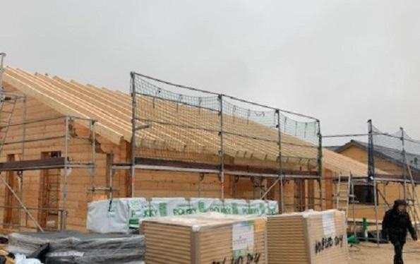 Rohbau nach Statik - Blockhausbau - Blockhausbauer - Blockhausmontage
