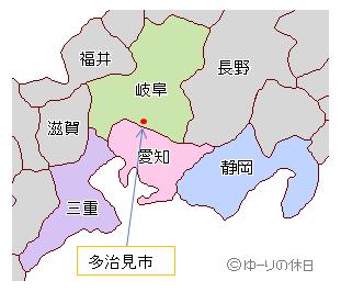 多治見市はここ!岐阜県でも最南端の多治見は名古屋に近くて交通の便も良し☆