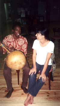 Drissa Konate et une spectatrice