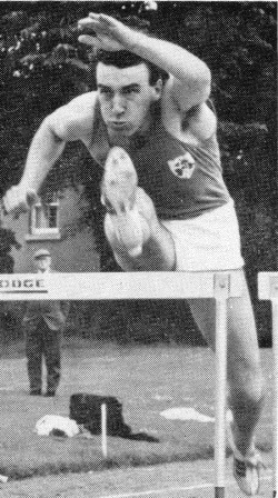Tony Hogarth, hurdles record at Murrayfield