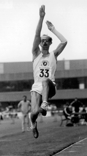Ken McKay 1985 SAAA Long Jump Champion, 7.72 metres