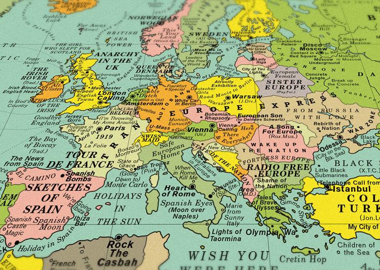 Usa Cartina Geografica.Cartina Geografica Musicale Matteo Gemetto