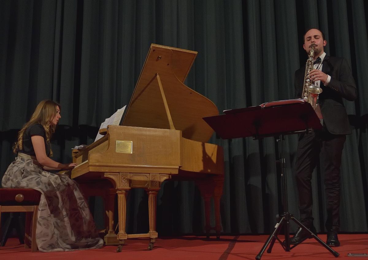 Roberto Vignoli, saxofono – Iulia Relinda Ratiu, pianoforte