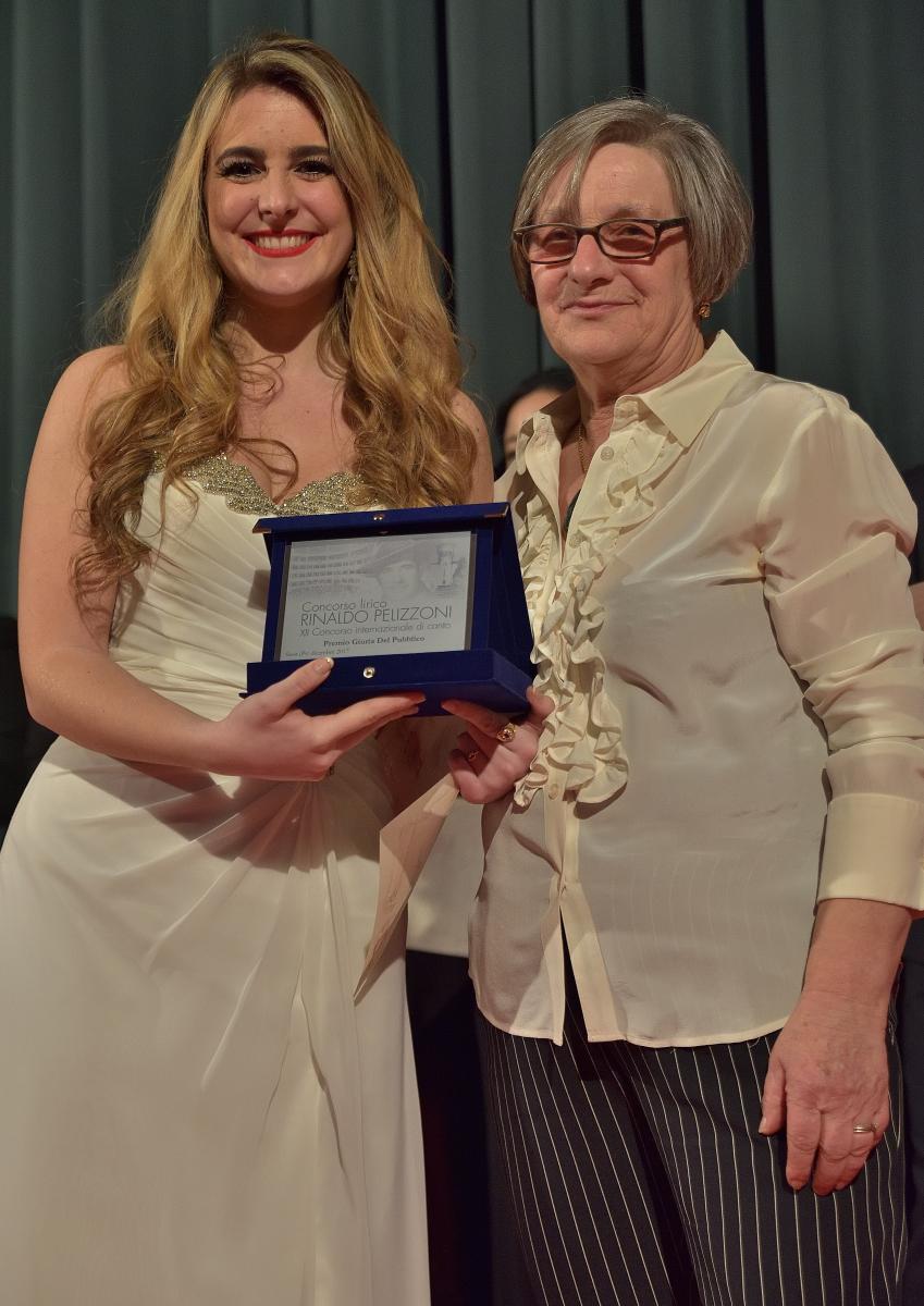 Premio Gradimento del pubblico a Sofia Esparza Jauregui,  soprano