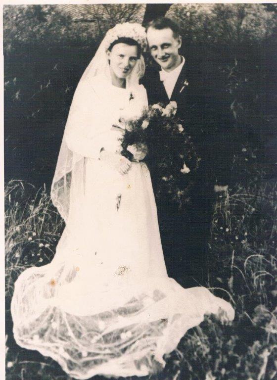 15. Hochzeitspaar Hermann und Elisabeth Freiling, geb. Brühl